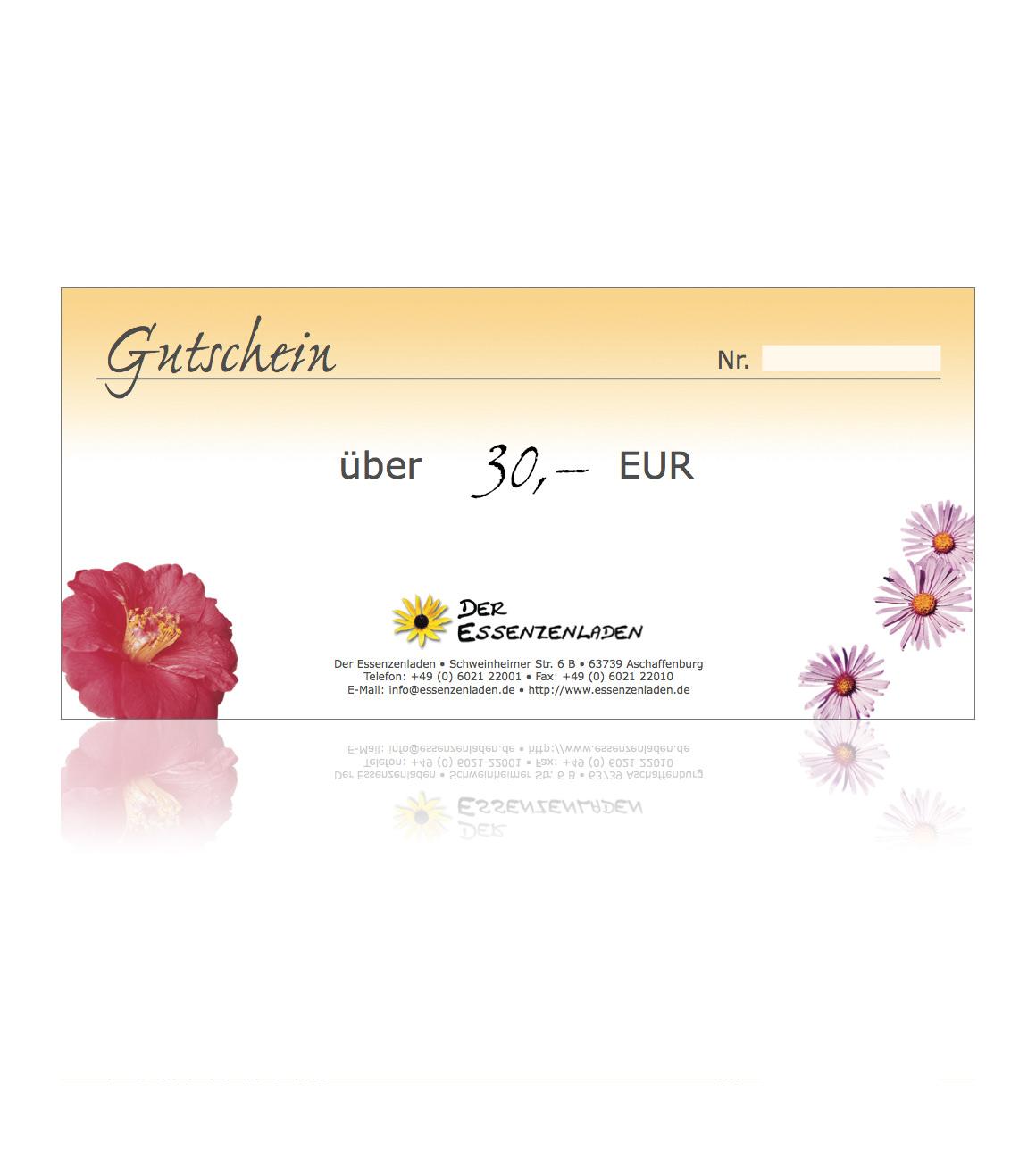 Geschenkgutschein 30 EUR