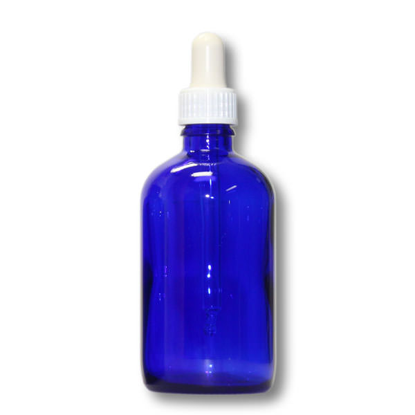 Pipettenfläschchen 100 ml blau