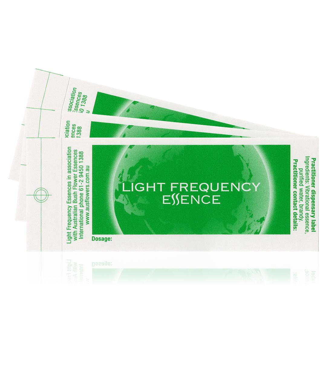 Blankolabels Lichtfrequenz Essenzen