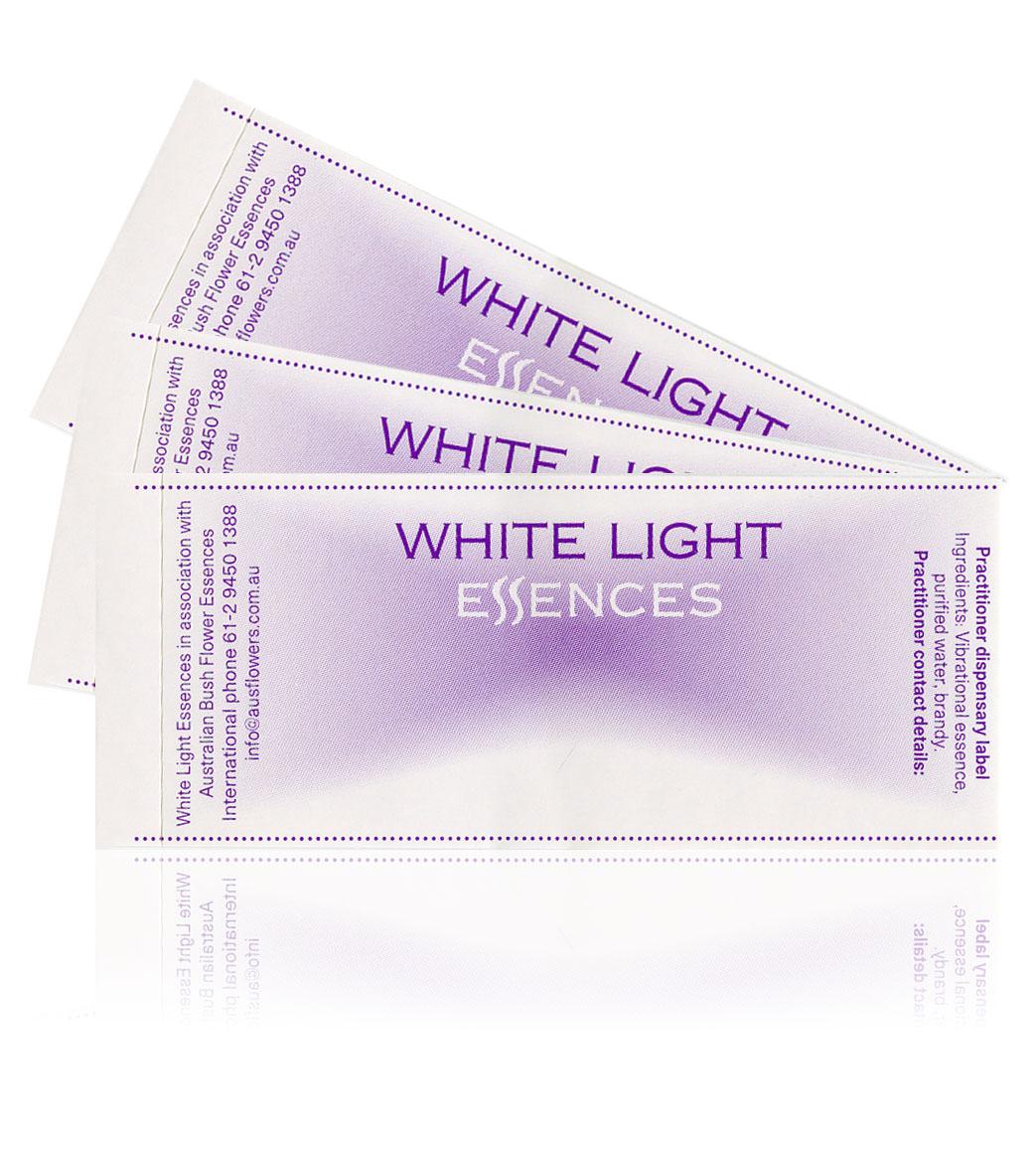 Blankolabels White Light Essenzen